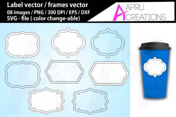 Print on Demand: Label Frames Vector Labels Graphic Icons By aparnastjp - Image 1