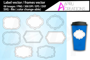 Download Free Label Frames Vector Labels Grafico Por Aparnastjp Creative Fabrica for Cricut Explore, Silhouette and other cutting machines.