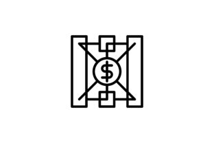 Download Free Cryptocurrency Dollar Protection Icon Graphic By Martellucia for Cricut Explore, Silhouette and other cutting machines.