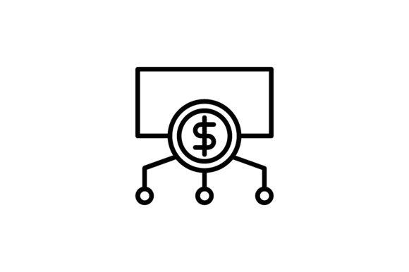 Download Free Cryptocurrency Dollar Diagram Icon Graphic By Martellucia for Cricut Explore, Silhouette and other cutting machines.