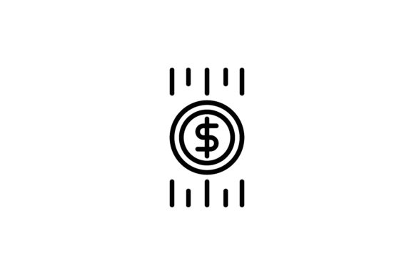 Download Free Cryptocurrency Dollar Icon Graphic By Martellucia Creative Fabrica for Cricut Explore, Silhouette and other cutting machines.