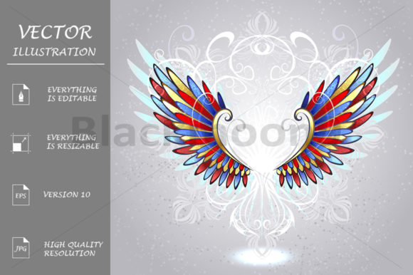 Stained Glass Wings Graphic Illustrations By Blackmoon9
