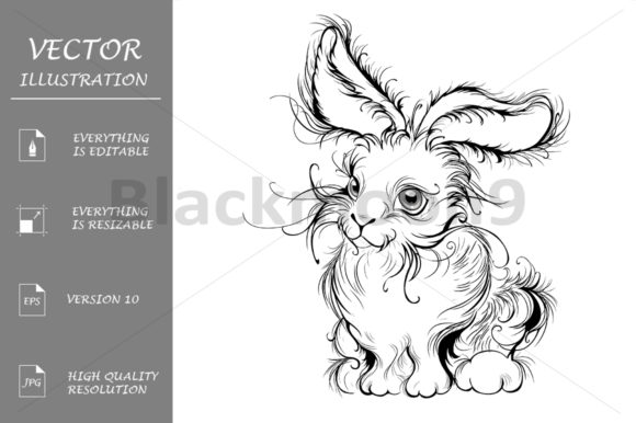 Stylized Rabbit Graphic Illustrations By Blackmoon9