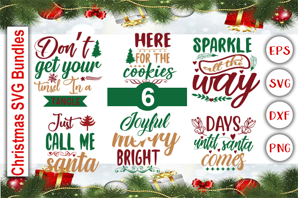 Christmas SVG Bundle Graphic Print Templates By Graphics Cafe
