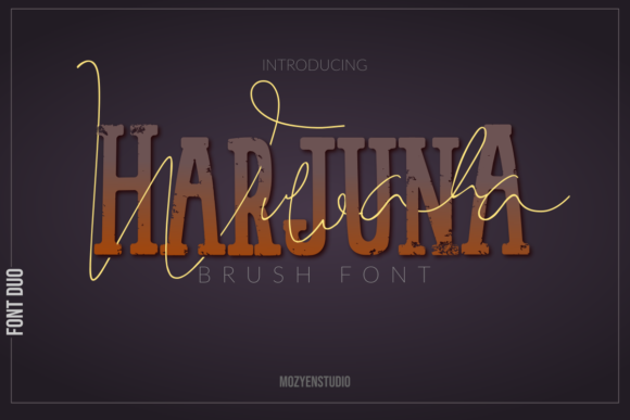 Print on Demand: Harjuna Slab Serif Font By mozyenstudio