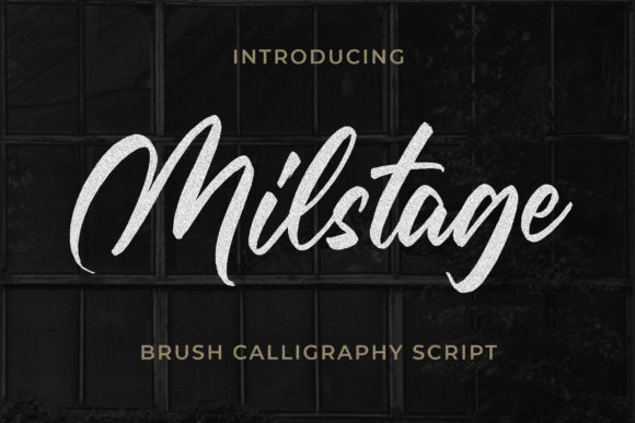 Print on Demand: Milstage Script & Handwritten Font By Bangkit Setiadi