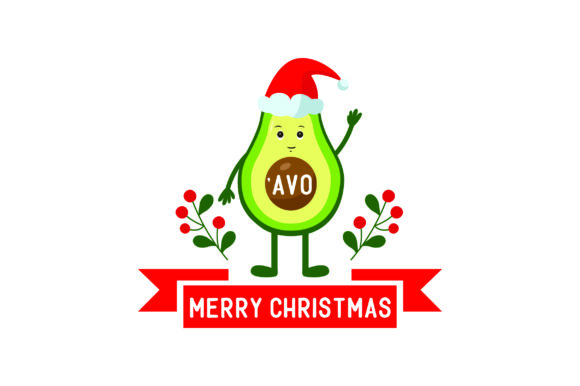 'Avo Merry Christmas Christmas Craft Cut File By Creative Fabrica Crafts - Image 1