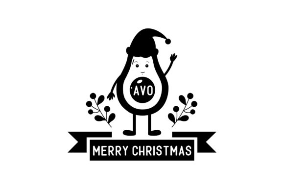 'Avo Merry Christmas Christmas Craft Cut File By Creative Fabrica Crafts - Image 2