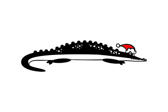 Download Free Christmas Alligator Svg Cut File By Creative Fabrica Crafts SVG Cut Files