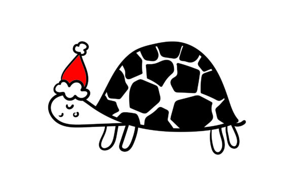 Christmas Turtle Christmas Craft Cut File By Creative Fabrica Crafts - Image 1