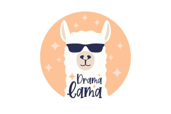 Download Free Drama Lama Svg Cut File By Creative Fabrica Crafts Creative for Cricut Explore, Silhouette and other cutting machines.