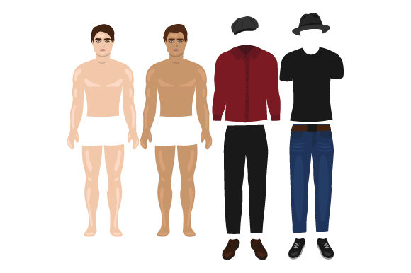 Download Free Male Doll Set Svg Cut File By Creative Fabrica Crafts Creative for Cricut Explore, Silhouette and other cutting machines.