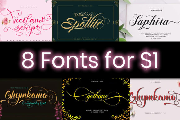 Print on Demand: 8 Uniquely Charming Fonts Font By sapre.studio