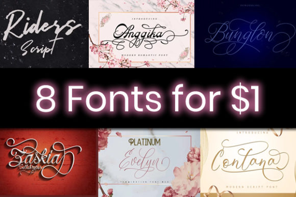 Print on Demand: 8 Super Stylish Fonts Font By sapre.studio
