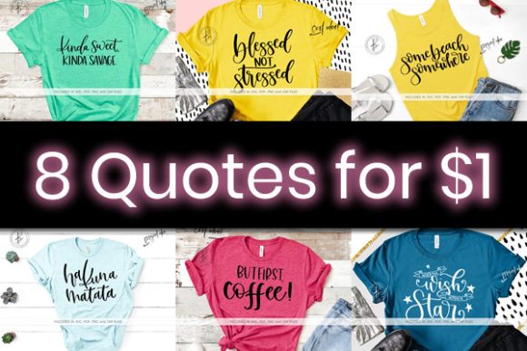Print on Demand: 8 Nice and Friendly Quotes Bundle Grafik von BeckMcCormick