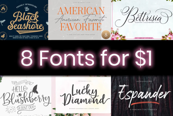 Print on Demand: 8 Stunning Script Fonts Font By Great Studio