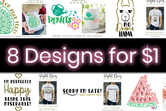 8 Witty and Cute Graphics Bundle Graphic By Digital Gems
