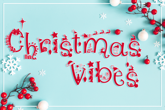 Print on Demand: Christmas Vibes Script & Handwritten Font By Anastasia Feya - Image 1