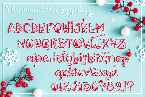 Print on Demand: Christmas Vibes Script & Handwritten Font By Anastasia Feya - Image 2