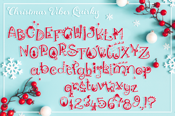 Print on Demand: Christmas Vibes Script & Handwritten Font By Anastasia Feya - Image 3