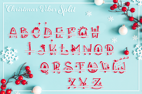 Print on Demand: Christmas Vibes Script & Handwritten Font By Anastasia Feya - Image 4