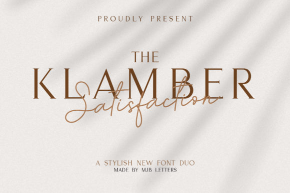 Print on Demand: Klamber Satisfaction Script & Handwritten Font By MJB Letters