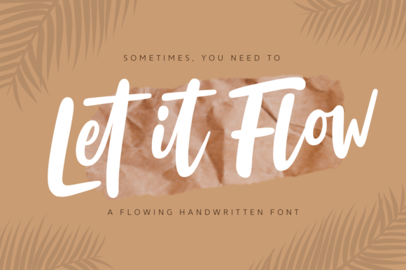Print on Demand: Let It Flow Script & Handwritten Font By Situjuh