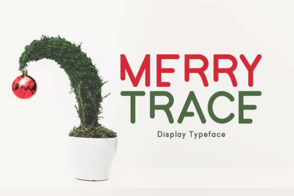 Print on Demand: Merry Trace Display Font By Instagram Fonts