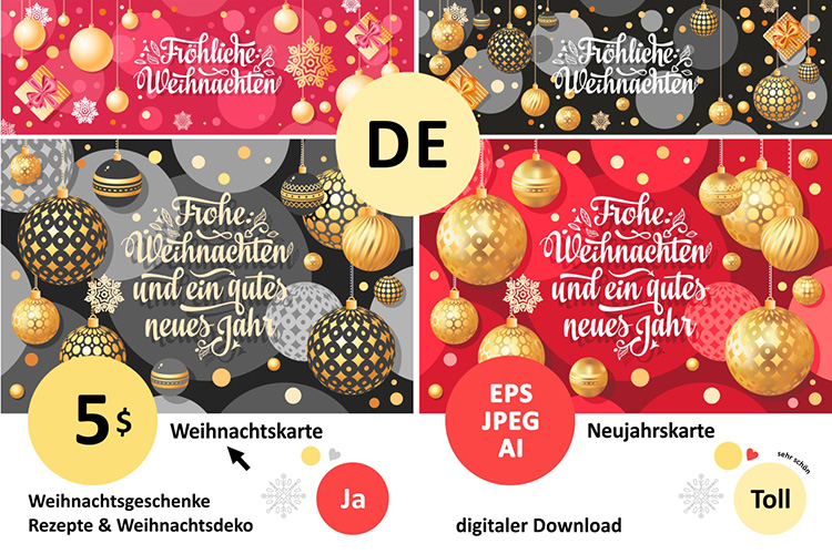 Download Free Christmas Card Weihnachten Christmas I Graphic By Zoyali for Cricut Explore, Silhouette and other cutting machines.