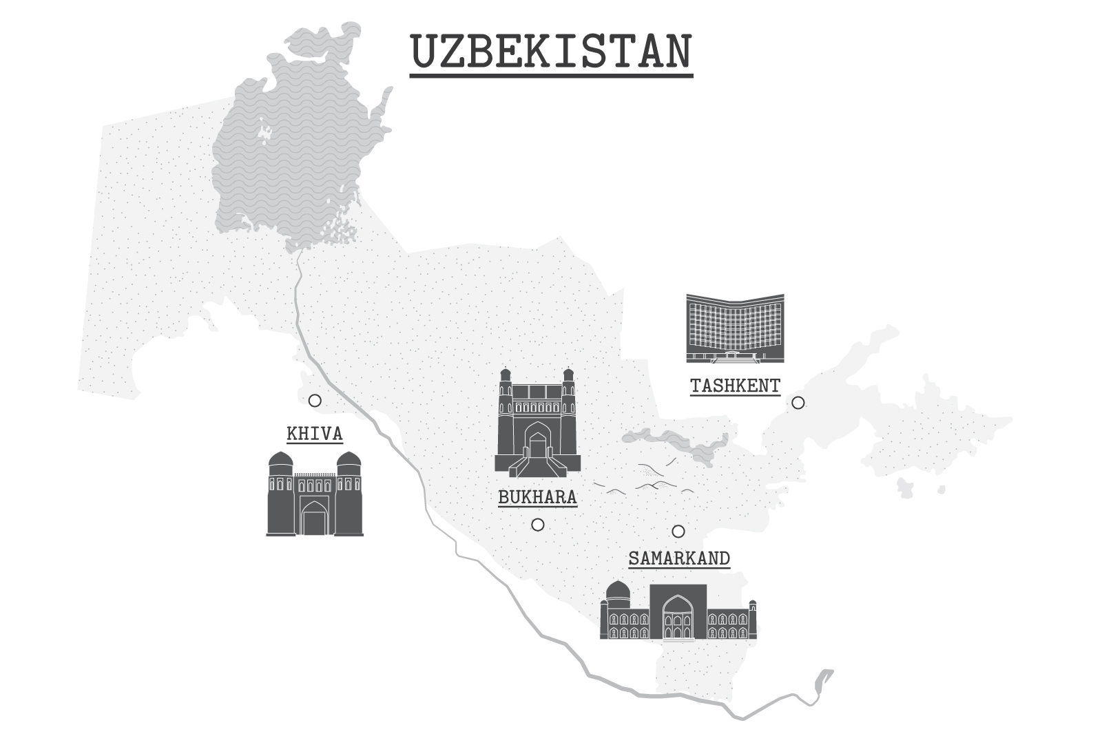 Download Free Uzbekistan Main Cities Map Graphic By Frattaglia Creative Fabrica for Cricut Explore, Silhouette and other cutting machines.
