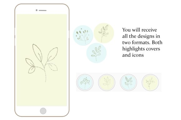 Download Free Botanical Instagram Highlight Covers Graphic By Anines Atelier for Cricut Explore, Silhouette and other cutting machines.