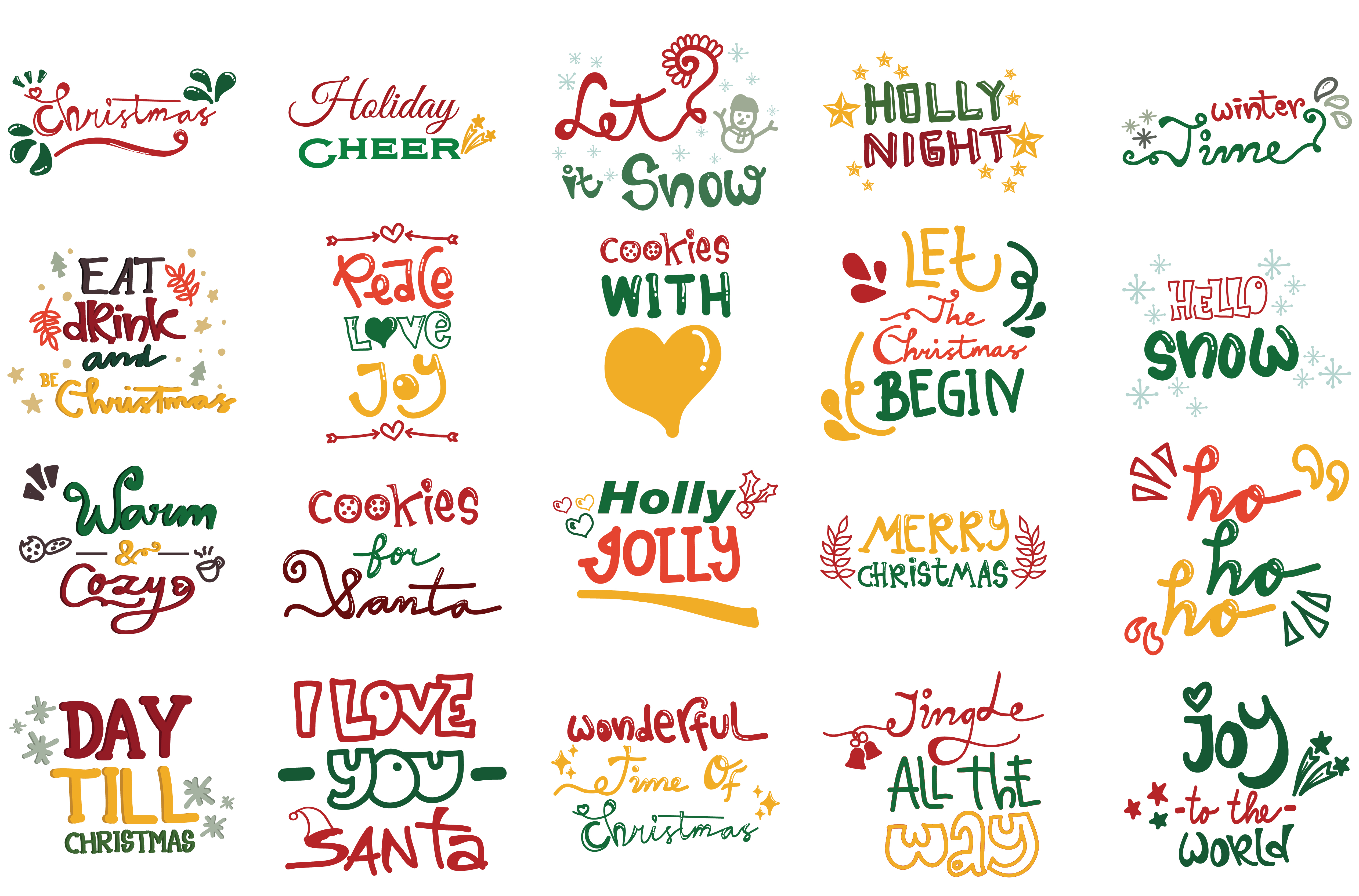 Download Free Christmas Quotes Set Graphic By Wienscollection Creative Fabrica for Cricut Explore, Silhouette and other cutting machines.