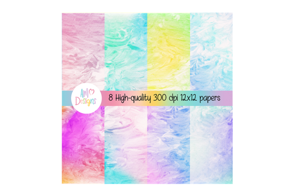 Print on Demand: Rainbow Gradient Background with Swirls Graphic Abstract By Angela Wheeland