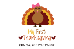 Download Free My First Thanksgiving Girls Tshirt Svg Graphic By Am Digital for Cricut Explore, Silhouette and other cutting machines.