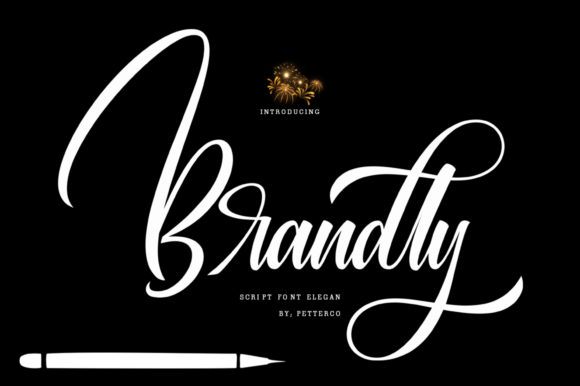 Print on Demand: Brandly Script & Handwritten Font By Petterco