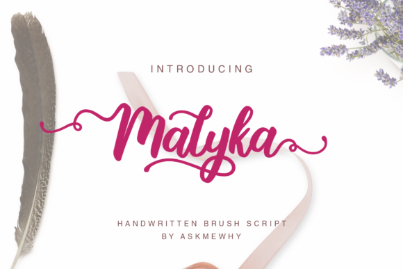 Print on Demand: Malyka Script & Handwritten Font By Askmewhy