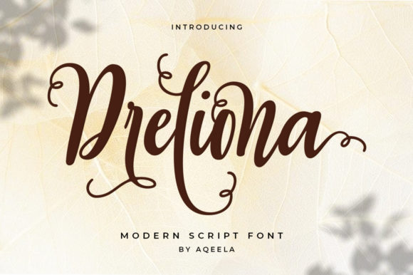 Print on Demand: Dreliona Script & Handwritten Font By Aqeela Studio