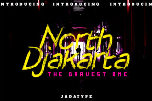 Print on Demand: North Djakarta Display Font By jadatype