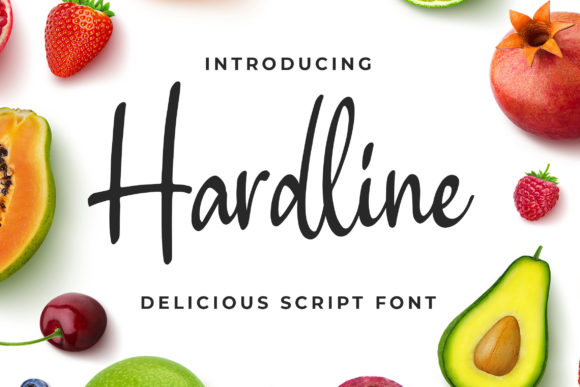 Print on Demand: Hardline Script & Handwritten Font By Bangkit Setiadi