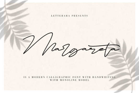 Print on Demand: Margareta Script & Handwritten Font By thomasaradea