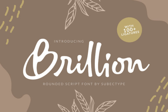 Print on Demand: Brillion Script & Handwritten Font By Subectype