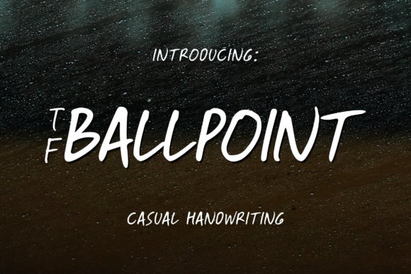 Print on Demand: Ballpoint Script & Handwritten Font By Fontdation