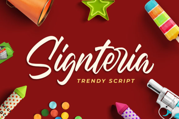 Print on Demand: Signteria Script & Handwritten Font By Bangkit Setiadi