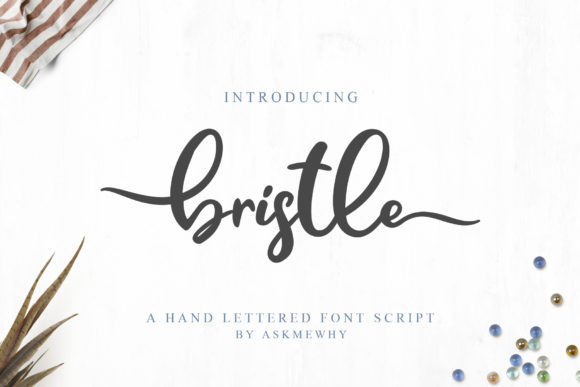 Print on Demand: Bristle Script & Handwritten Font By Askmewhy