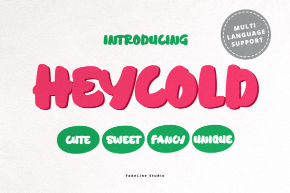 Print on Demand: Heycold Display Font By FadeLine
