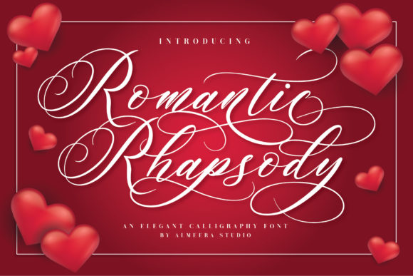 Print on Demand: Romantic Rhapsody Script & Handwritten Font By Almeera Studio