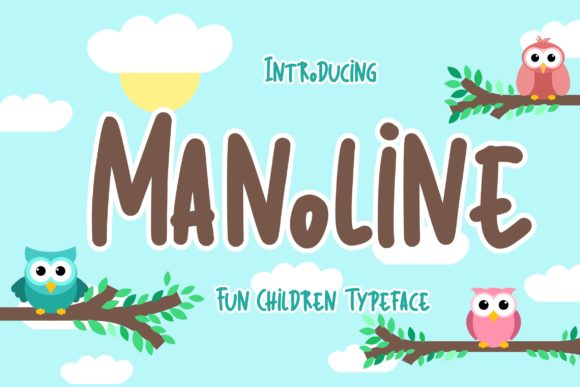 Print on Demand: Manoline Display Font By CreatypeStudio