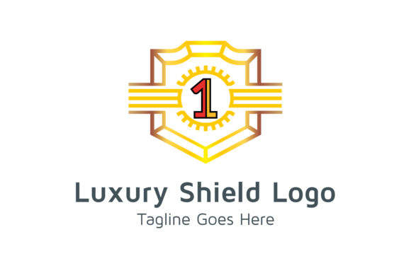 Download Free Luxury Shield Logo Number 1 Graphic By Thehero Creative Fabrica for Cricut Explore, Silhouette and other cutting machines.