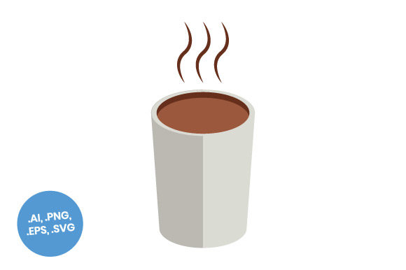 Download Free Hot Coffee Mug Flat Icon Graphic By Sasongkoanis Creative Fabrica for Cricut Explore, Silhouette and other cutting machines.