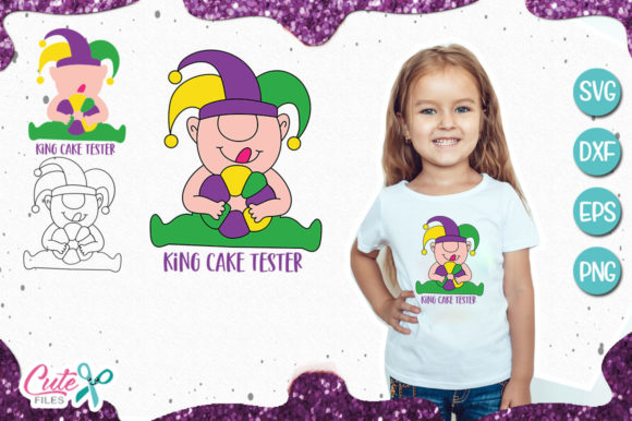 King Cake Tester Gnome Svg for Crafters Graphic Illustrations By Cute files - Image 1